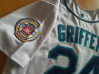 Seattle Mariners #24 Ken Griffey Jr.Throwback Jersey New Tag dual patches sewn on Ebay