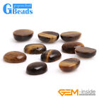 Coin Oval Yellow Tiger's Eye Cabochon Bead For Jewelry Ring Charms Making 5Pcs