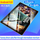 "New 10"" Hd Game Tablet Pc Ten Core 6+64g Android 8.0 Gps 3g Wifi Dual Camera Us"