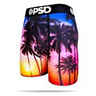 PSD Underwear Mens Tropical Sunset Boxer Brief Orange