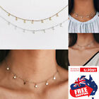 Women Simple Silver Gold Star Choker Necklace Chain Jewelry Gifts Choker 1pc