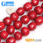 """Dyed Coral Freeform Stone 19x20mm Big Round Beads for Jewelry Making Strand 15"""""""