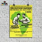 Poster Vintege Muhammad Ali George Foreman Boxing Ring Boxing Sport Cassius Clay