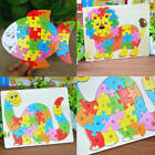 ABC Wooden Animal Puzzle Alphabet Jigsaw kids Children Educational Learnin NNL
