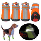 Dog Walking Shoes Waterproof Protective Pet Boots Booties Non-Slip Reflective