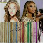 """200 Strands Holographic Sparkle Hair Tinsel Glitter Extensions Dazzles 48"""" Long günstig"""