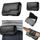 Business Black Card Wallet pocket belt Bag PU Leather Case Cover For Cell Phones