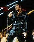 ELVIS PRESLEY REAL LEATHER JACKET MENS  BLACK LEATHER PANT SUIT GENUINE NEW
