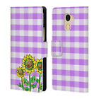 OFFICIAL GRACE ILLUSTRATION FLOWERS LEATHER BOOK CASE FOR WILEYFOX & ESSENTIAL