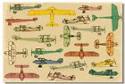 194556 Airplane Take Off Different Engine Retro Aircraf Decor Wall Print Poster