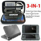 3 in 1 kit Carry Bag+Clear Cover+Top/Bottom film for New Nintendo 3DS XL LL 2015