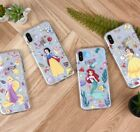 Official Disney Princess Clear Soft Jelly Phone Case Cover For Apple iPhone