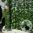 1*3m Artificial Ivy Leaf Fence Green Garden Yard Privacy Screen Hedge Plants Au
