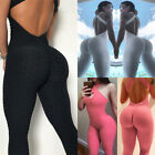 Womens Yoga Jumpsuit Fitness Leggings Sports Workout Gym Pants Athletic Clothes