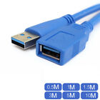 Premium 1.6FT 5FT 10FT 16FT USB 3.0 A Male to Female Extension Cable Cord Blue