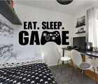 Gamer Controller Eat Sleep Game boy girl Wall Art Vinyl Decal Sticker V493