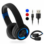 Foldable Wireless Hands Free Mic Headphones Stereo Earphones Super Bass Headset