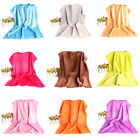 50*70cm Soft Warm Solid Warm Micro Plush Fleece Blanket Throw Rug Sofa Bedding image