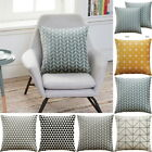 Square 18'' Yellow & Grey Geometric Cushion Cover Pillow Case Home Sofa Decor HL
