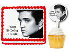 Elvis Presley Edible Birthday Party Cake Topper Cupcake Plastic Picks