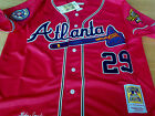 BRAND NEW Atlanta Braves #29 John Smoltz Throwback Jersey Red New Tag WS patch on Ebay