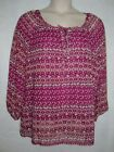 Faded Glory Women Peasant Top Blouse with Cami Tank 2 Pc Plus Size 1X 2X 4X