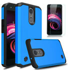 For LG Rebel 4 / Optimus Zone 4 Shockproof TPU Phone Case Cover+Screen Protector