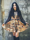Gloomth Victorian Mourning steampunk skater dress Sizes XS to 5XL gothic goth !