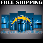 5Pcs Los Angeles Chargers City Canvas Picture Print Painting Wall Art Home Decor $19.95 USD on eBay