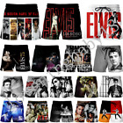 Men Women Summer Casual Shorts Singer Elvis Presley 3D Print Loose Beach Shorts