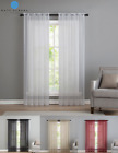 Kate Aurora Premium Single Sheer Voile Window Curtain Panels - Assorted Colors