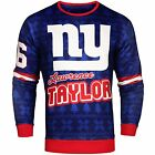 NFL Men's New York Giants Lawrence Taylor #56 Retired Player Ugly Sweater $49.99 USD on eBay