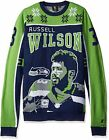 KLEW NFL Men's Seattle Seahawks Russell Wilson #3 2015 Ugly Sweater,Green $44.95 USD on eBay