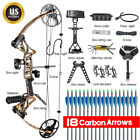 Full Set Topoint  M1 Compound Bow Right Hand Kit Hunting Arrow Archery Target