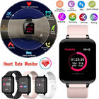 Bluetooth SMART Watch Heart Rate  Blood Pressure Monitor Sport Fitness Tracker