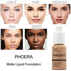 phoera makeup matte liquid foundation full coverage cream concealer oil control
