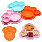 Silicone Placemat Small Food Mat Dish Tray Plate Kid Baby Toddler Tablewares 1PC