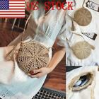 Us Women Round Rattan Bali Hand Woven Shoulder Bag Straw Beach Crossbody Bag