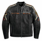 MENS BLACK HARLEY DAVIDSON LEATHER JACKET BIKER CAFE RACER RETRO GENUINE NEW $194.99 AUD on eBay