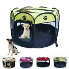 Pet Dog Cat Playpen Tent Exercise Fence Kennel Cage Portable Soft Crate House.