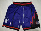 NWT Stitched Men's Toronto Raptors shorts pants Purple Basketball