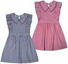 Girls Stripe Dress Kids New Ruffle Sleeve Summer Party Dresses Age 2 - 14 Years