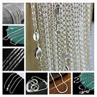 Wholesale 16-30 Inches 925 Silver Figaro Snake Chain Necklace Men Women Jewelry