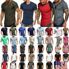 Summer Men Slim Fit O-Neck Short Sleeve Muscle Tee Shirts Casual Shirt Tops 03
