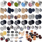 1 Pair Surgical Steel Fake Cheater Earring Stud Ear Plug Flesh Tunnel Piercing for sale  China