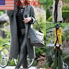 Women's Long Sleeve Open Front Hoodie Knit Sweater Cardigan Solid Color Coat 03