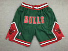 Men's Chicago Bulls NBA Basketball Shorts Pants NWT Stitched green