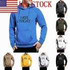 US Men's Casual Pull On Closure Long Sleeve Fleece Hooded Sweatshirt Hoodie 03