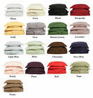 Queen (20X30In)Size Bed Pillow Case Solid Colors 400 TC 100%Soft Egyptian Cotton image