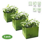 Used, 3 Packs Square Fabric Aeration Pots Grow Bags 3/6/9/14 Gallon for sale  Woodinville